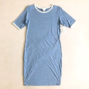 LuLaRoe Women's Sz M Heather Blue Julia Dress NWT